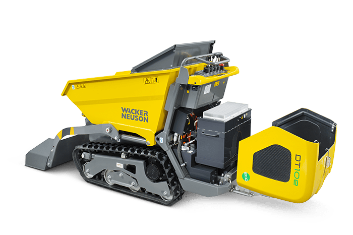 Wacker Neuson electric track dumper DT10e maintenance access