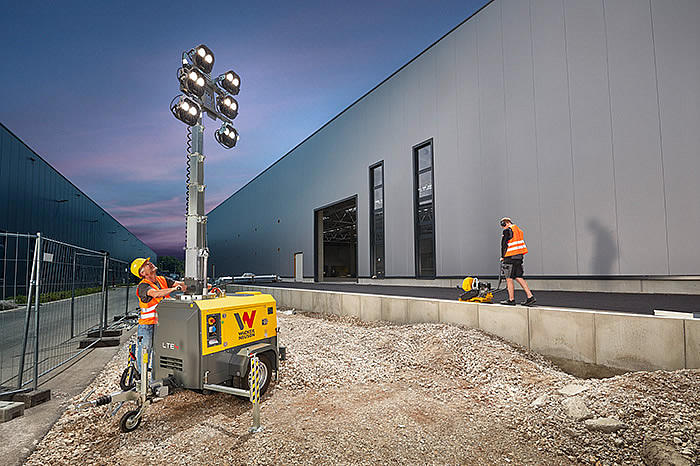 LTE light tower LED in action